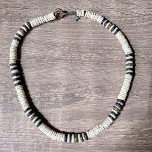 Men's Puka Shell Beaded Necklace